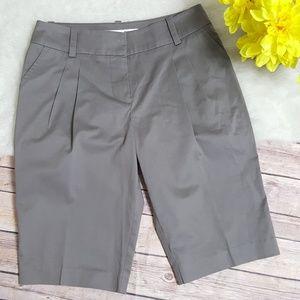 Trina Turk Gray Bermuda Walking Shorts Size 6